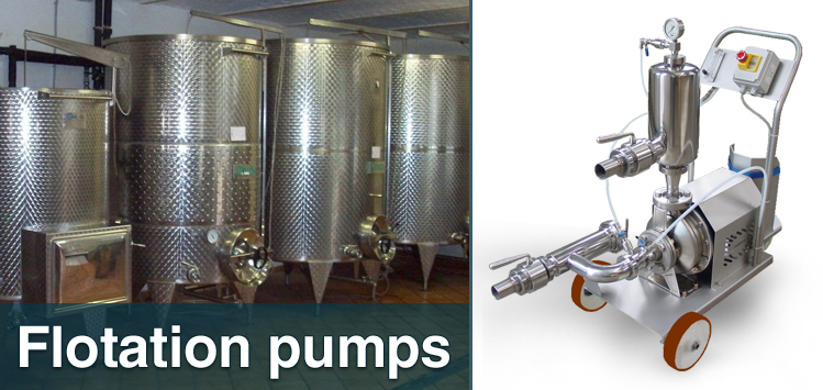 Flotation pumps